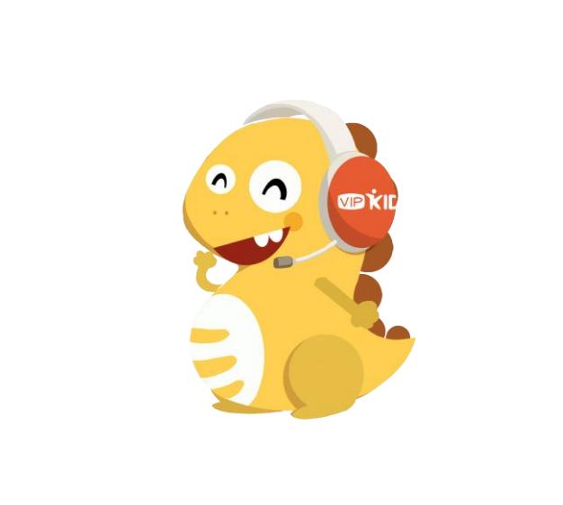 Dino, the VIPKID Mascot